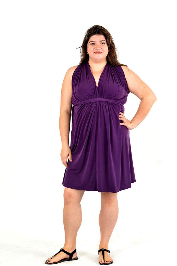 royal purple wrap dress
