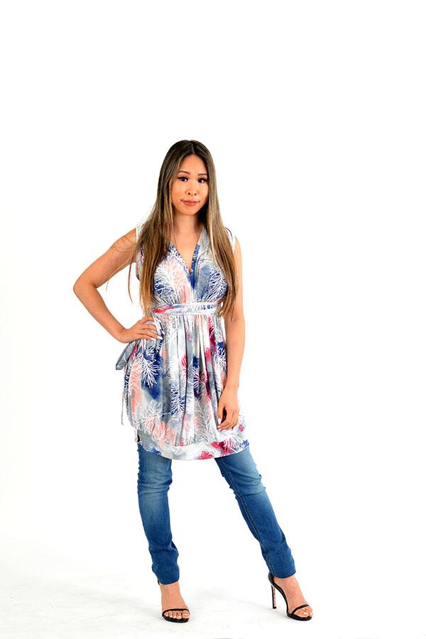 sakura wrap dress