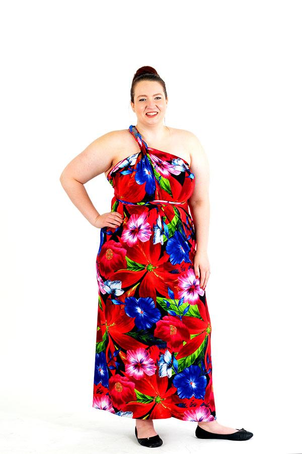 tropics wrap dress