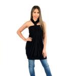 Black Convertible Wrap Dress