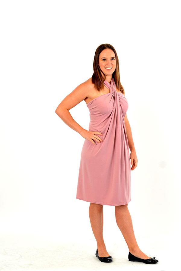 blush multi-convertible dress