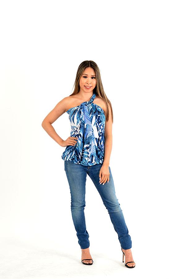 jungle blues infinity dress