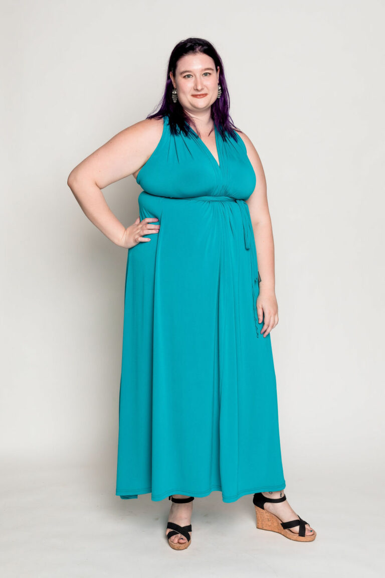 teal multi-convertible dress
