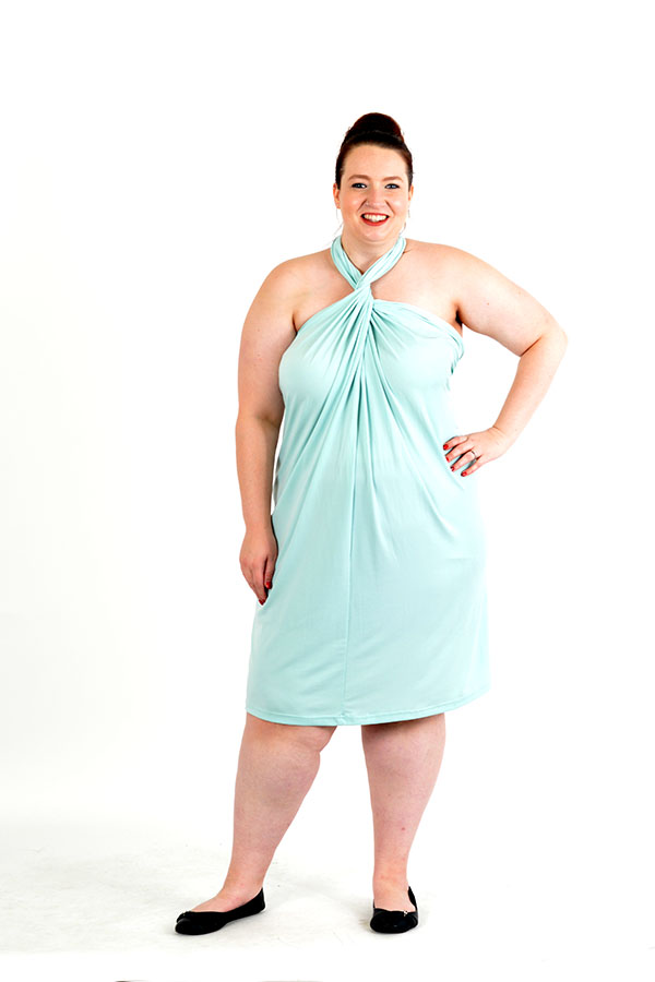 mint convertible wrap dress