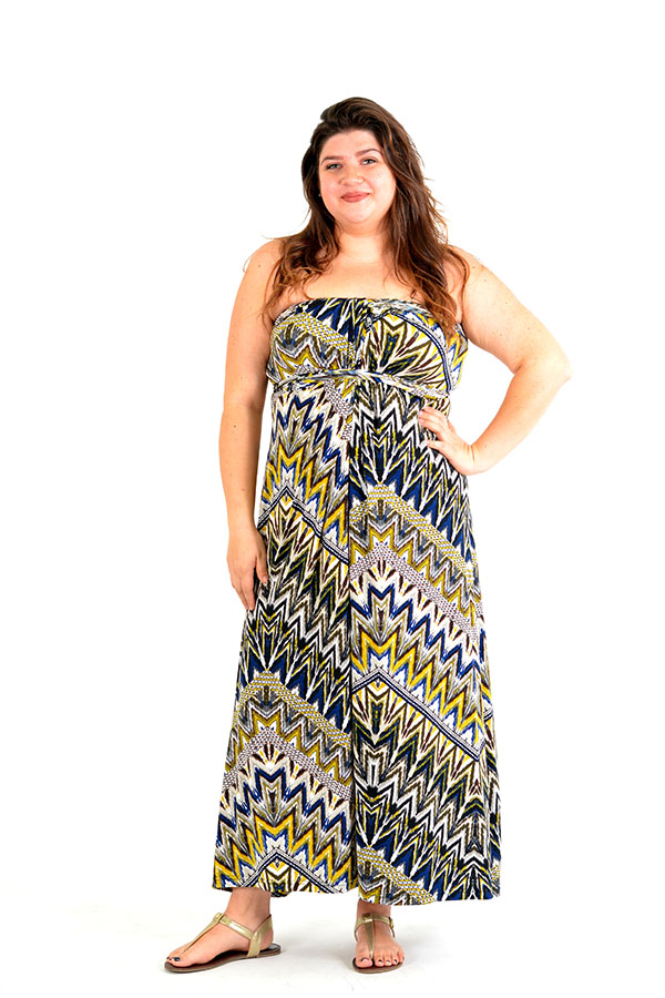 olive aztec wrap dress