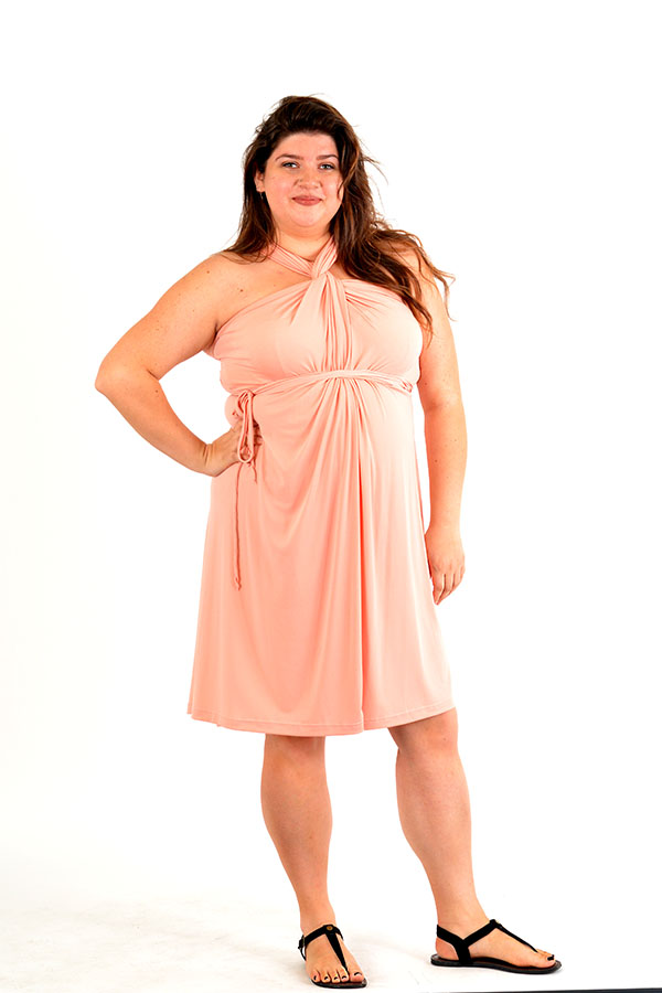 Peach Convertible Dress