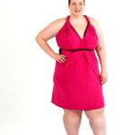 Reverse Fuchsia Light wrap dress