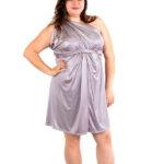 shimmer purple wrap dress