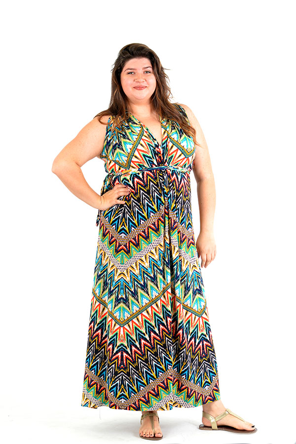 teal aztec wrap dress