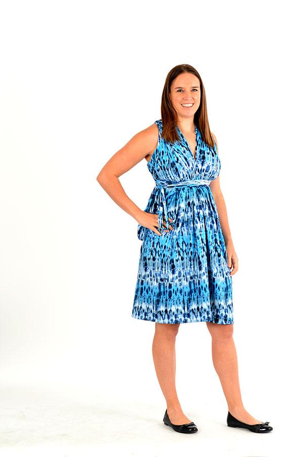 waterfall infinity wrap dress