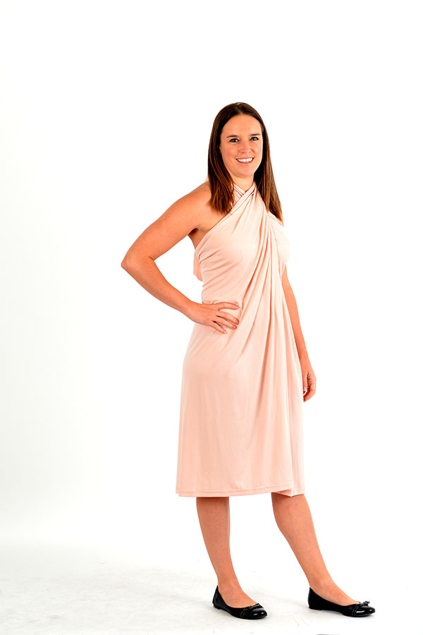 apricot Convertible wrap dress