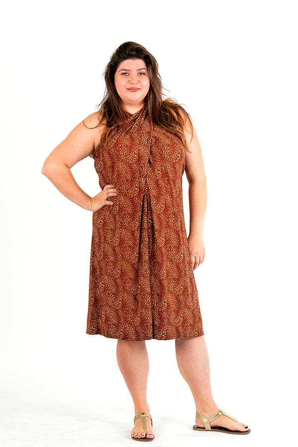 cheetah infinity wrap dress