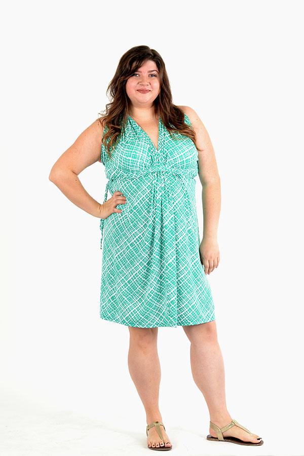 emerald squares infinity dress
