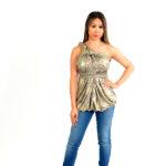 gold multi-convertible wrap dress