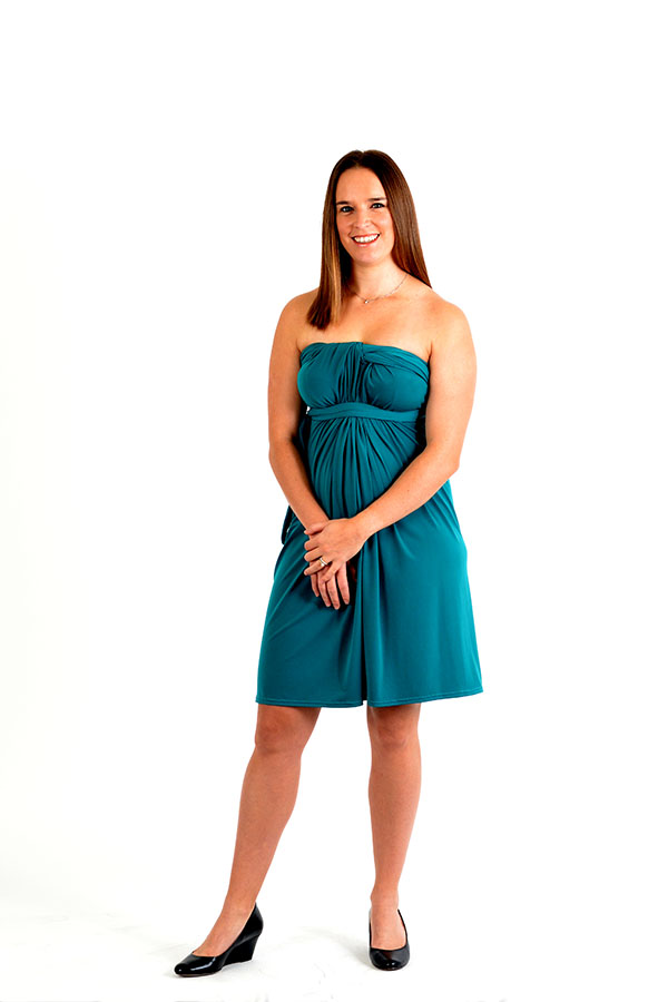 Lagoon multi-wrap dress