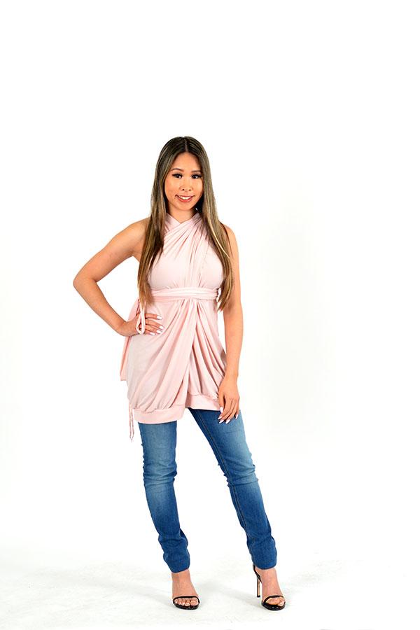 soft pink infinity dress