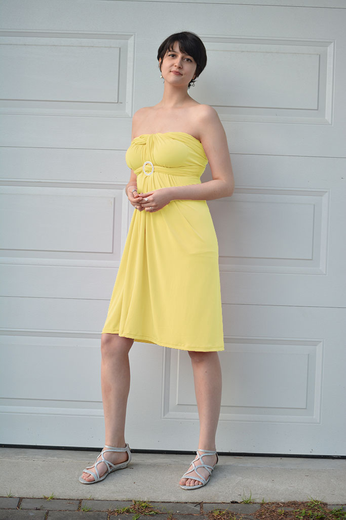 Love U Designs - Convertible Dress - Yellow
