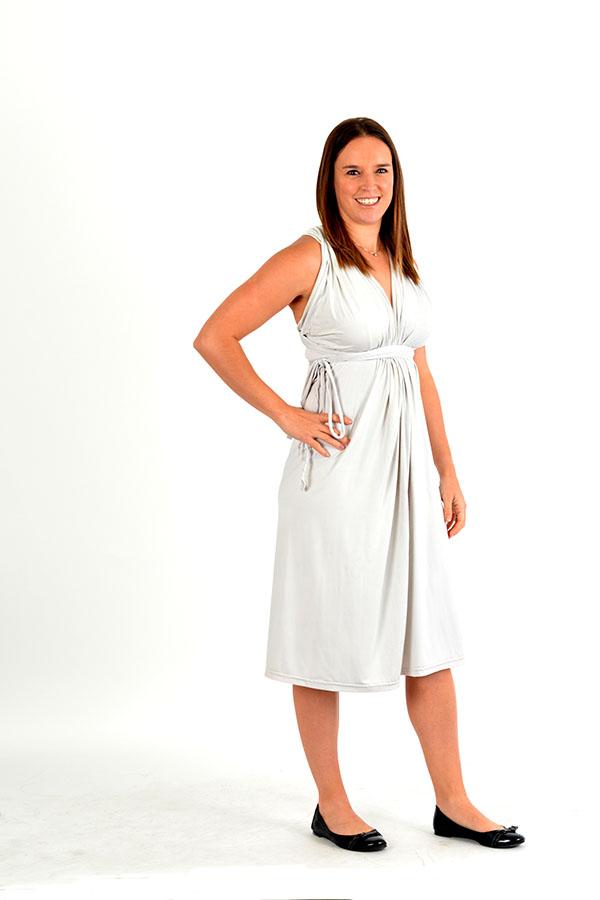 off white infinity wrap dress