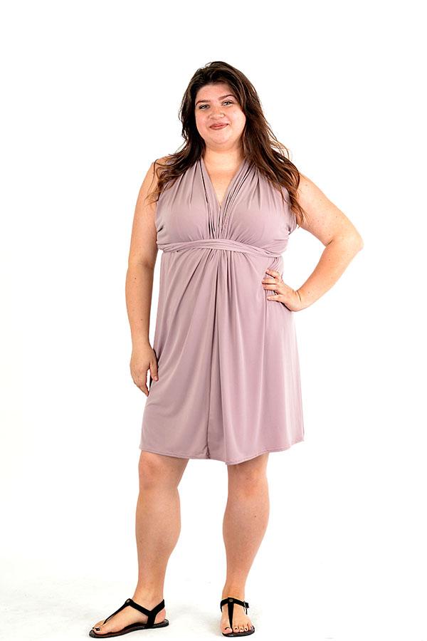 Taupe multi-convertible wrap dress
