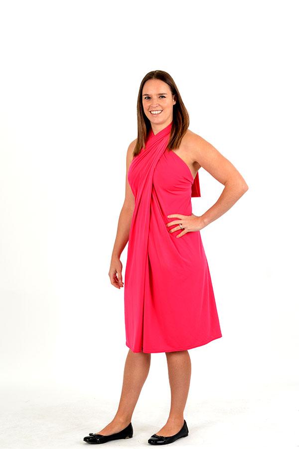 Watermelon wrap dress