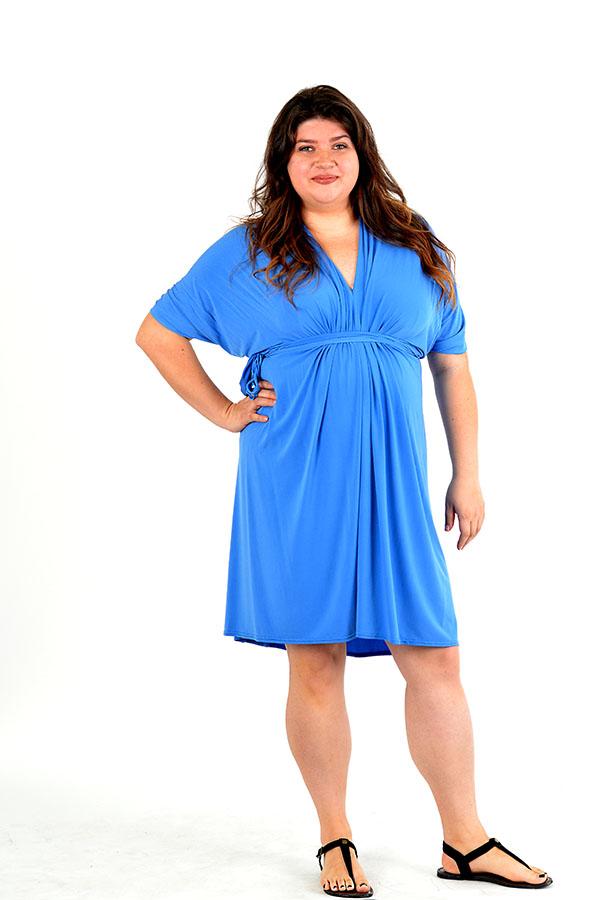 ice blue infinity wrap dress