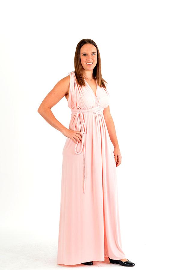 petal pink multi wrap dress