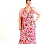 pink flower infinity dress