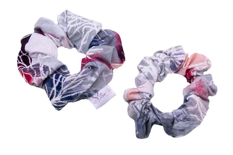 sakura scrunchies