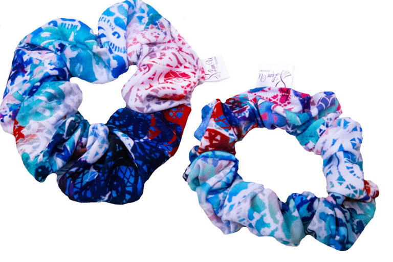 summer lace scrunchies