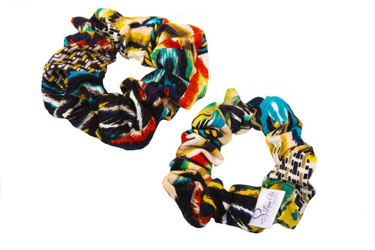 teal aztec scrunchies