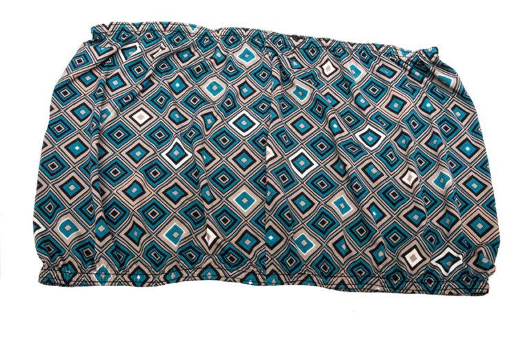 teal diamonds tube tops