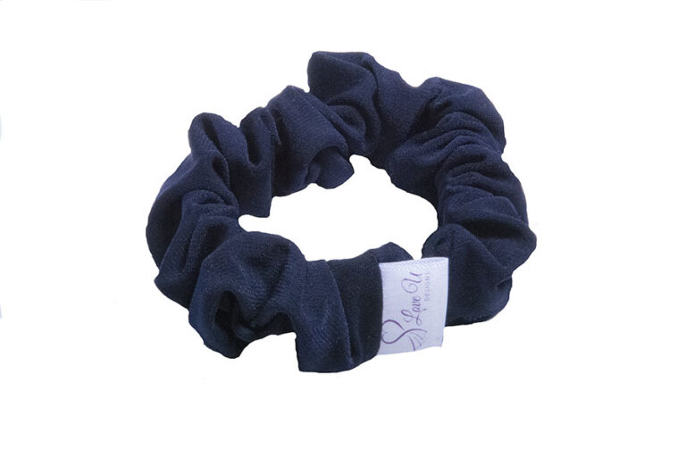 deep navy scrunchies
