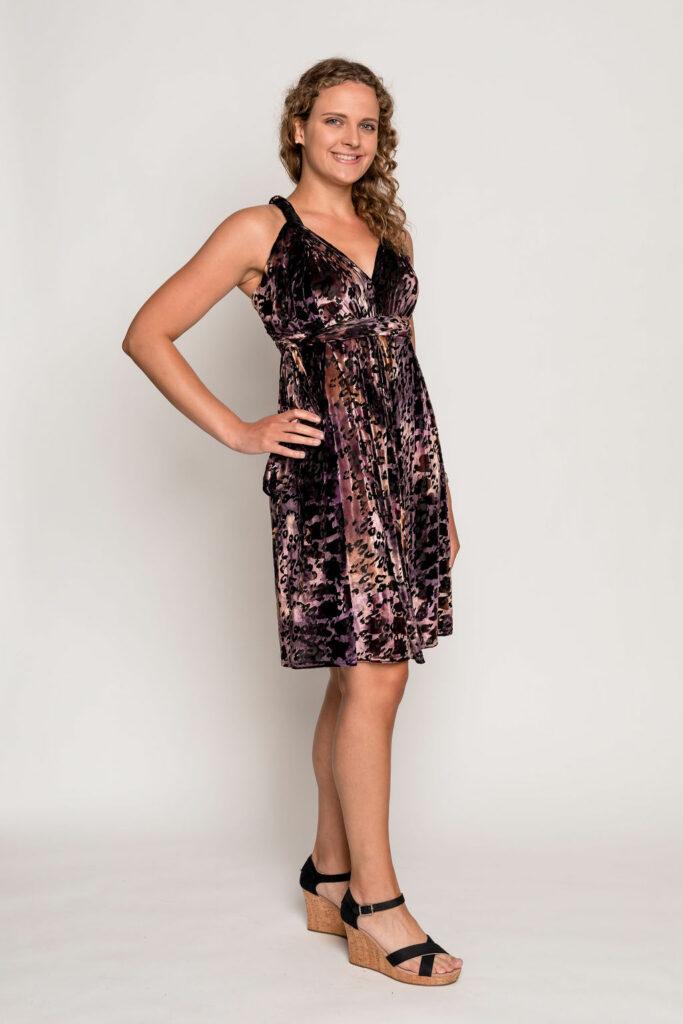 Fierce Greek Goddess Wrap Dress