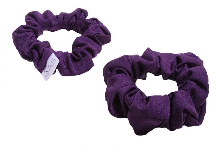 royal purple scrunchies